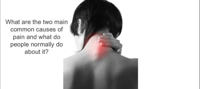 What are the two most common causes of pain?